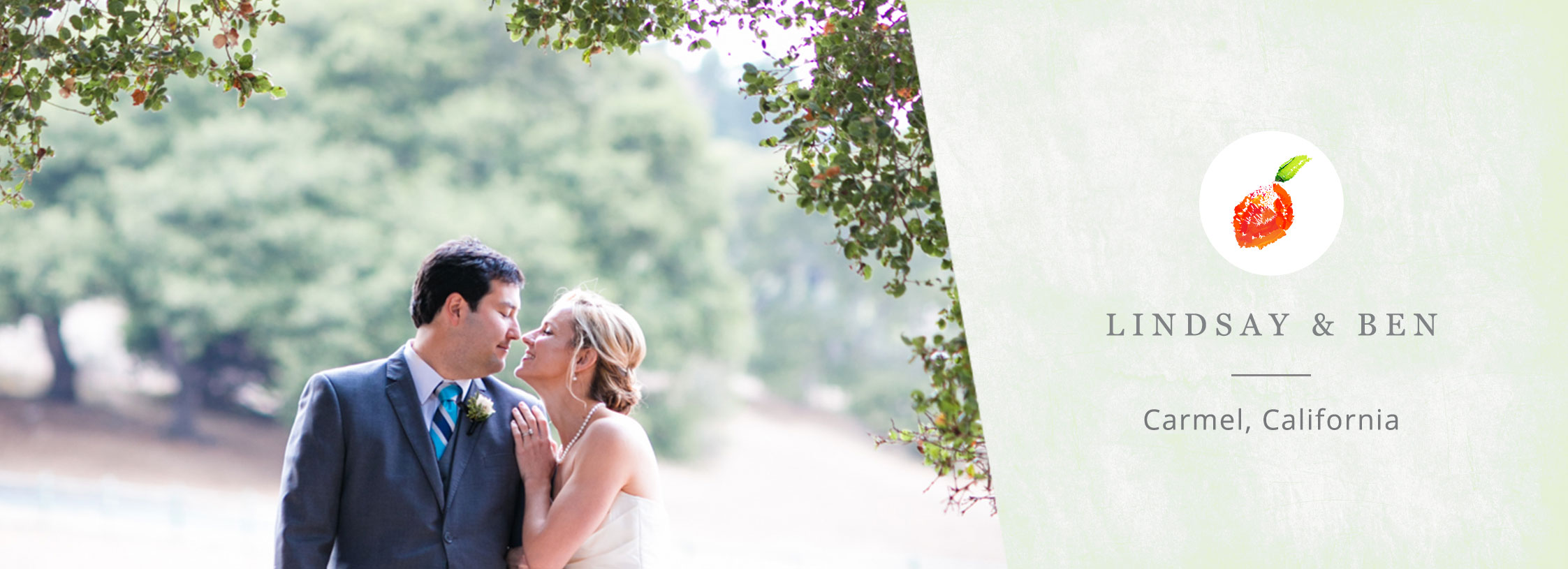 Happy couple at a Carmel destination wedding by Destination wedding planner Mango Muse Events