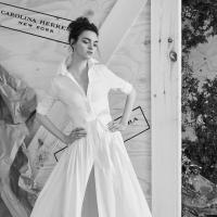 Shirt dress wedding dress by Carolina Herrera bridal, a non-traditional wedding dress idea