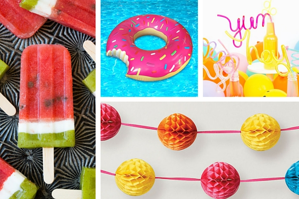Playful kid friendly summer party inspiration board by Destination wedding planner Mango Muse Events