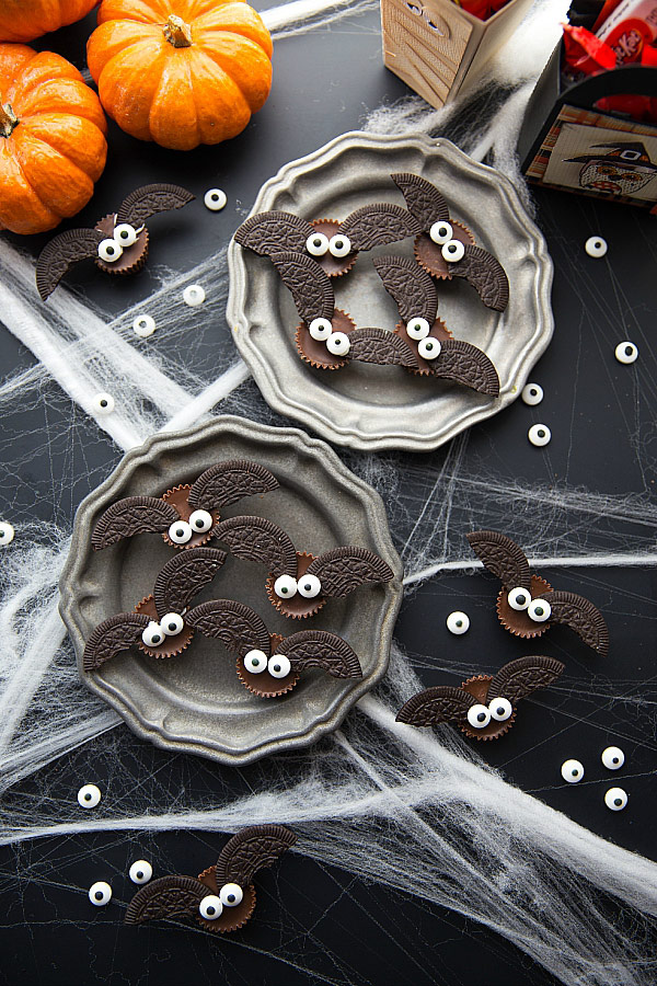 Bat treats as a part of 12 Halloween decor ideas