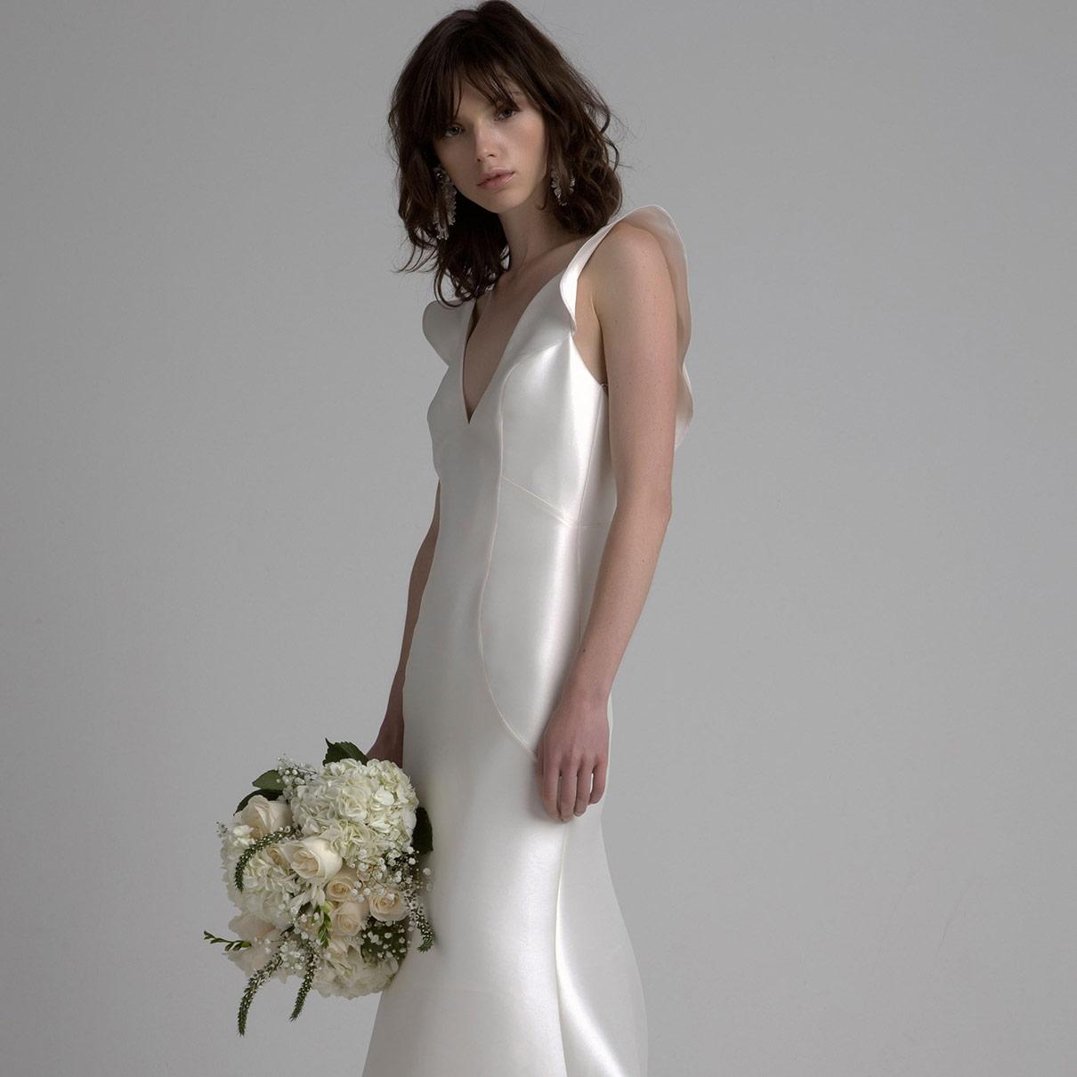 sleek-wedding-dress-bridal-fashion-week-fall-2017-sachin-and-babi ...