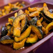 Roasted kabocha squash a healthy catering option served at a San Francisco wedding by Destination wedding planner, Mango Muse Evdents