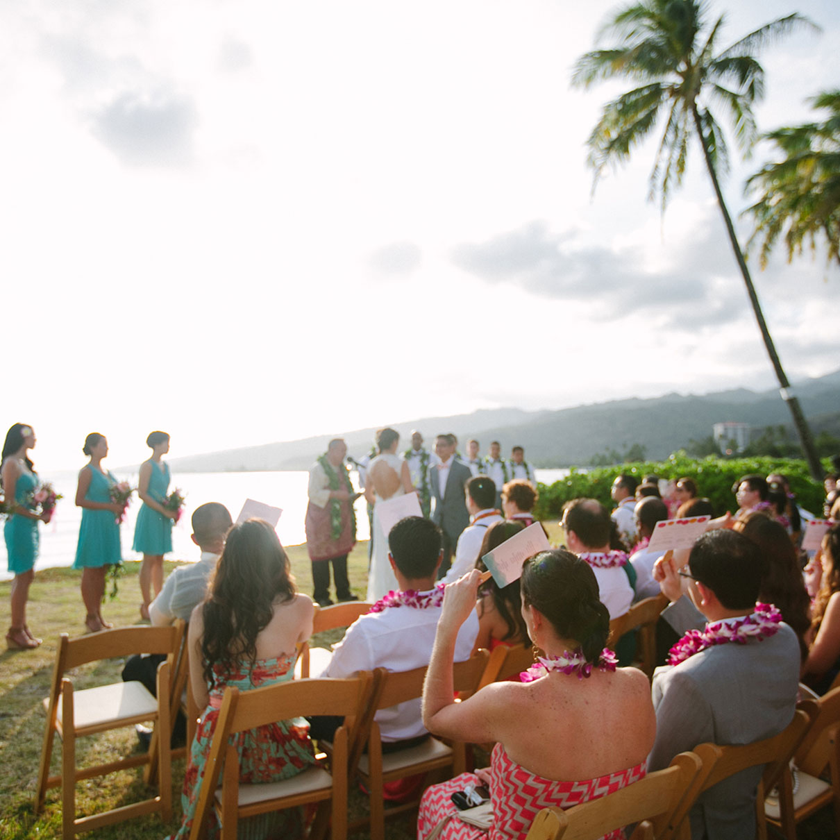 Hawaii destination wedding ceremony mango muse events a wedding ceremony right in front of the ocean at a hawaii destination wedding by destination junglespirit Image collections