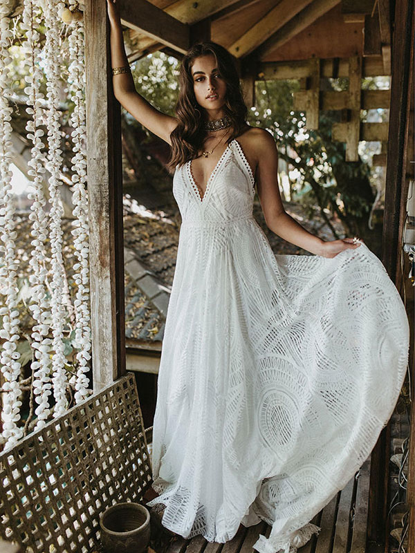 Boho wedding dress by Lovers Society Spring 2018 Bridal