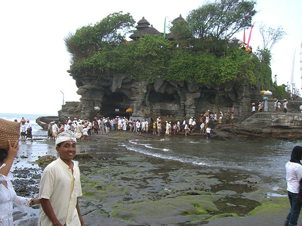 A temple gathering in Bali
