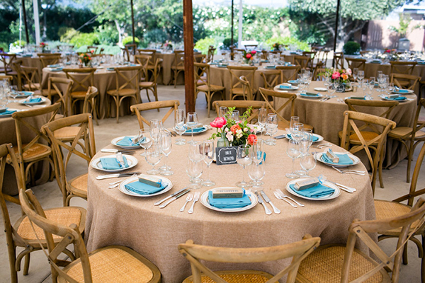 Wedding table design and wedding decor for a Sonoma destination wedding by Destination wedding planner, Mango Muse Events