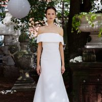 Off the shoulder wedding dress by Lela Rose Fall 2018 Bridal