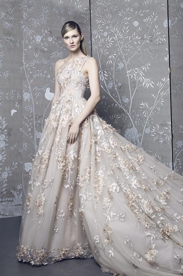 Colored wedding dress by Romona Keveza Fall 2018 Bridal