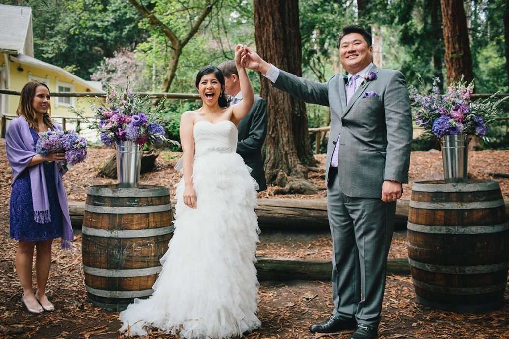 Bride And Groom Celebrate Being Married At Their San Francisco Destination Wedding By Planner