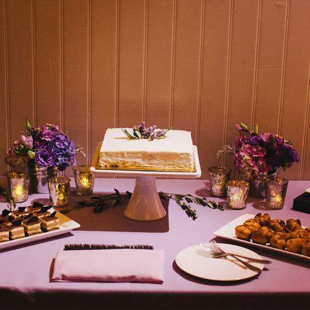 Wedding cake and dessert bar from B. Patisserie at a San Francisco destination wedding by Destination wedding planner Mango Muse Events