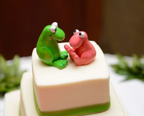 Nerd wedding cake toppers for a Hawaii wedding by Destination wedding planner Mango Muse Events
