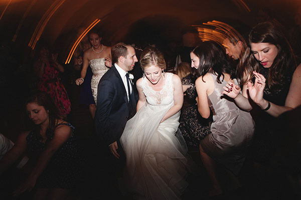 Bride dancing on the dance floor at a Sonoma destination wedding reception by destination wedding planner Mango Muse Events