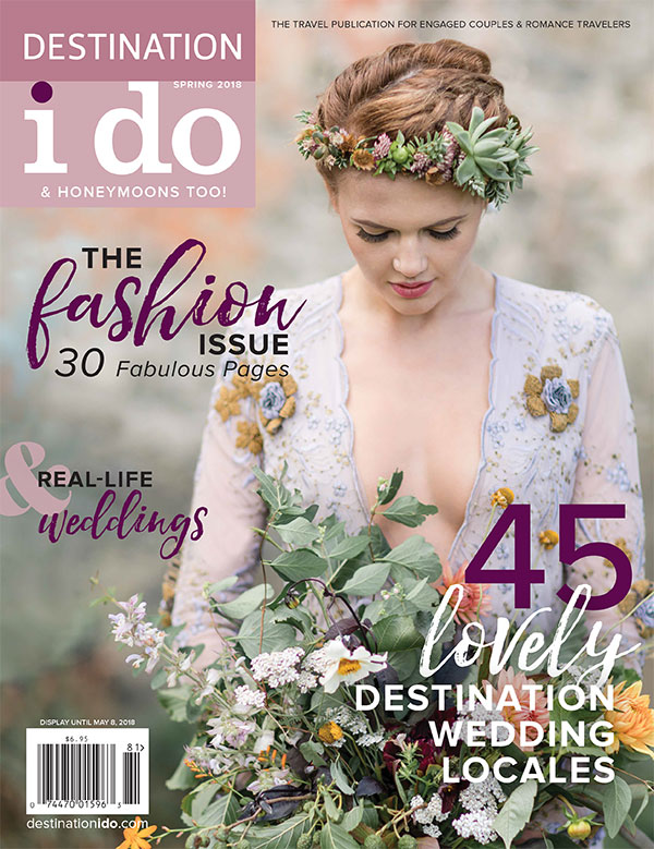 Destination I Do magazine cover featuring a magical Scotland destination wedding by destination wedding planner Mango Muse Events