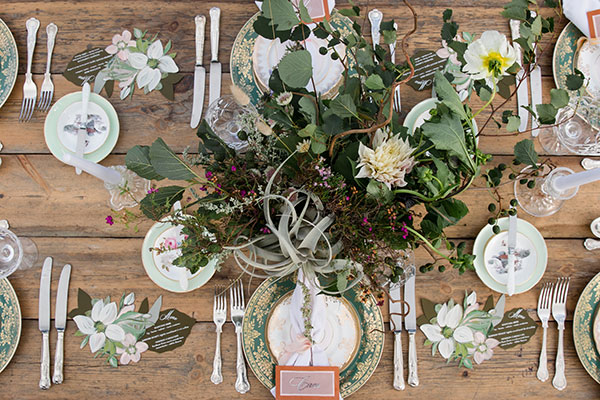 Vintage wedding tablescape design Isle of Skye Scotland destination wedding by destination wedding planner Mango Muse Events
