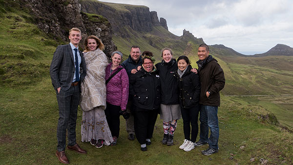 Amazing wedding vendor team Isle of Skye Scotland destination wedding shoot with destination wedding planner Mango Muse Events
