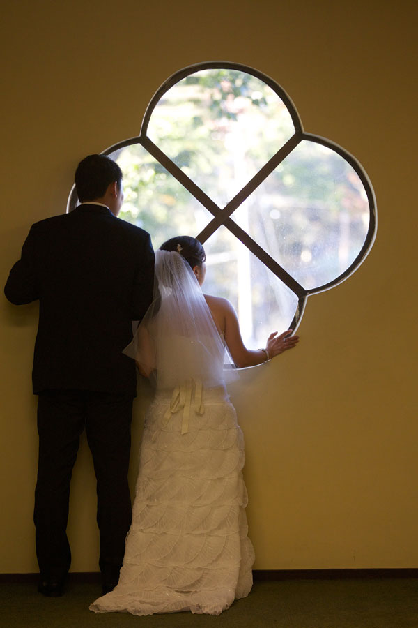 Bride and groom waiting in anticipation for their wine country wedding by Destination wedding planner Mango Muse Events