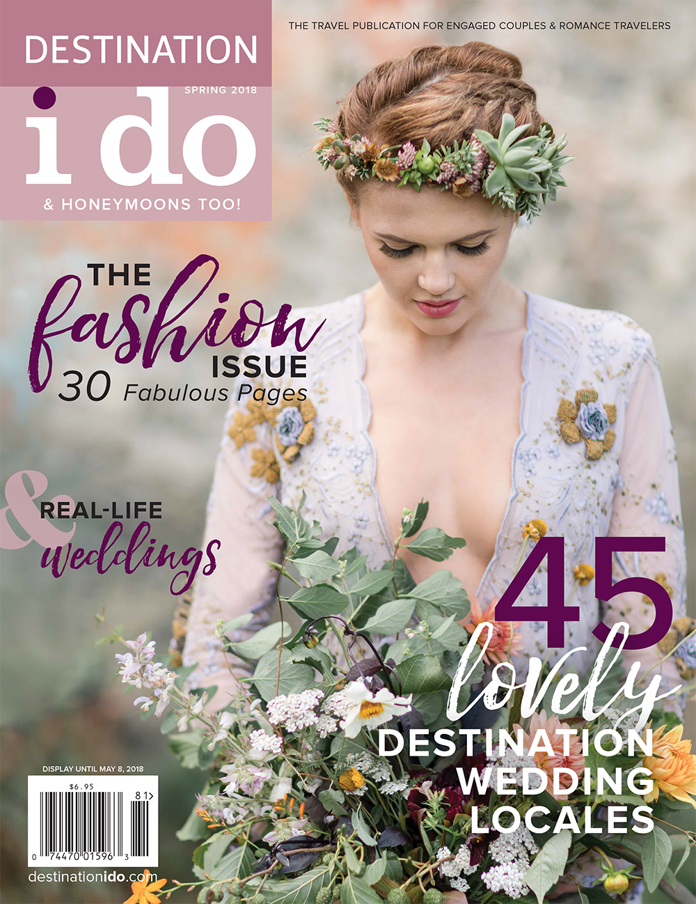 Destination I do magazine cover featuring a Scotland wedding on the Isle of Skye by Destination wedding planner, Mango Muse Events