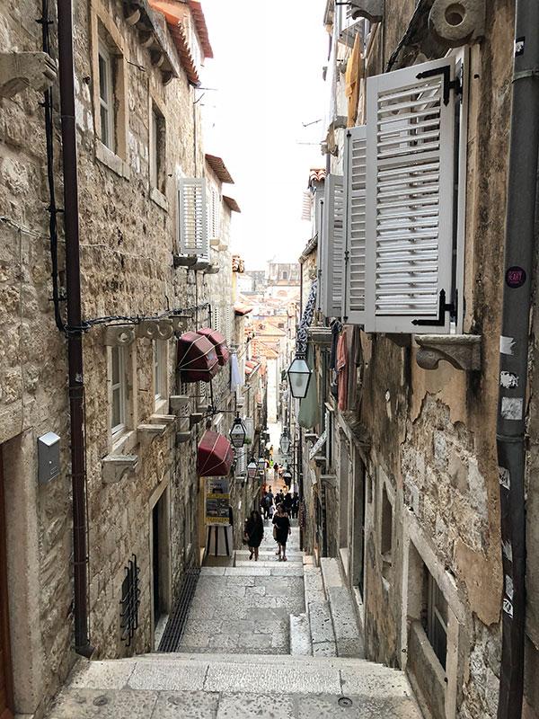 Famous Dubrovnik steps Croatia destination wedding planner Mango Muse Events