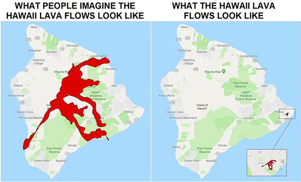 What the Hawaii lava flow actually looks like Kilauea volcano Big Island Hawaii