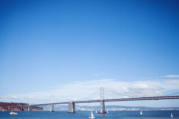 Bay Bridge in San Francisco, a gay friendly wedding destinations by destination wedding planner Mango Muse Events