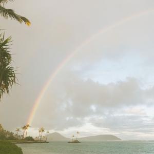Rainbow in Oahu Hawaii, a gay friendly wedding destinations by destination wedding planner Mango Muse Events
