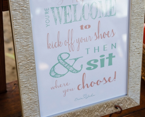 Welcome sign with southern flair at a wedding ceremony in St. Croix US Virgin Islands in the Caribbean by Destination wedding planner Mango Muse Events