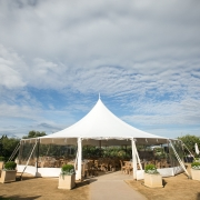 Wedding tent at Cornerstone Sonoma for a spring wedding by Destination wedding planner Mango Muse Events