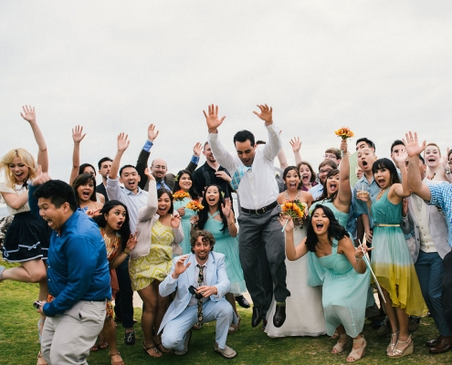 Fun friend photo at a Hawaii destination wedding by Destination wedding planner Mango Muse Events