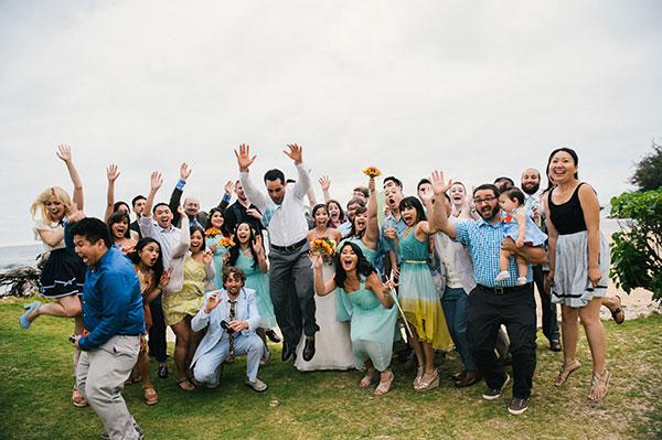 Fun friend photo at a Hawaii destination wedding by Destination wedding planner Mango Muse Events