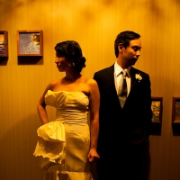 Bride and groom artsy photo at a San Francisco wedding by Destination wedding planner Mango Muse Events