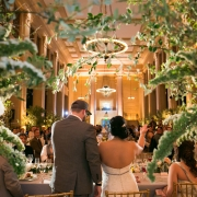 Bride and groom saying their thank you speech at a San Francisco destination wedding at the Bently Reserve by Destination wedding planner Mango Muse Events