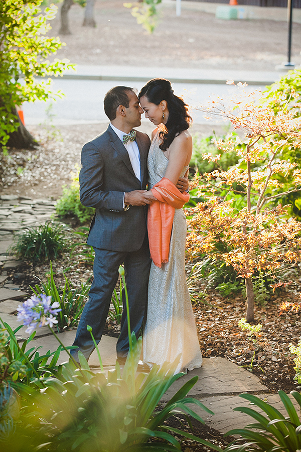 Bride and groom newlyweds taking a moment alone at their multi-cultural wedding by Destination wedding planner Mango Muse Events