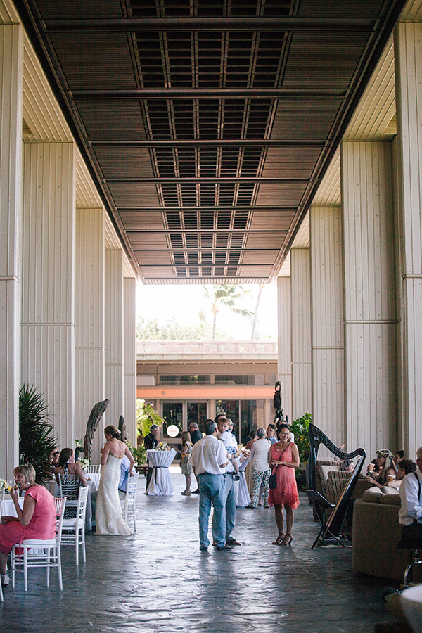 A brunch day time wedding at the Mauna Kea resort on the Big Island in Hawaii by Destination wedding planner Mango Muse Events