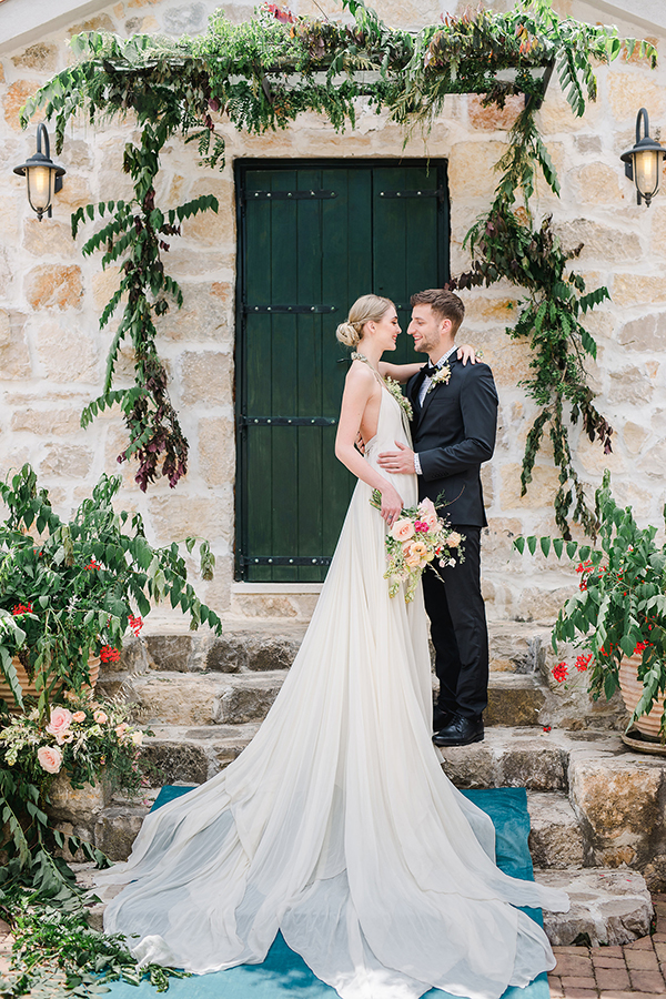Bride and groom at the wedding ceremony for a destination wedding in Croatia by Destination wedding planner Mango Muse Events