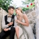Couple toasting with champagne at their Croatia destination wedding by Destination wedding planner Mango Muse Events