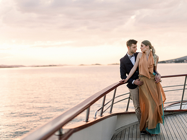 Couple enjoying sunset at their destination wedding in Croatia by Destination wedding planner Mango Muse Events