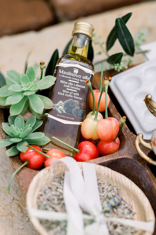 Welcome gift local goodies from Croatia for a destination wedding by Destination wedding planner Mango Muse Events