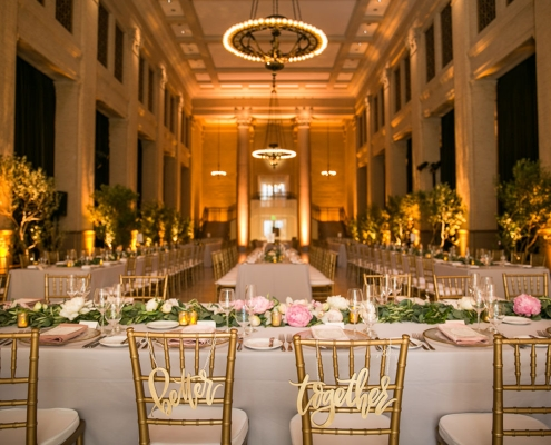 Better together wedding signs at the iconic Bently Reserve wedding reception for a destination wedding in San Francisco by destination wedding planner Mango Muse Events