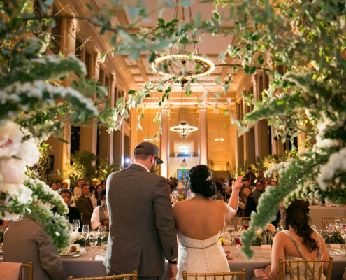 Bride and groom thank you toast at their Bently Reserve destination wedding in San Francisco by destination wedding planner Mango Muse Events