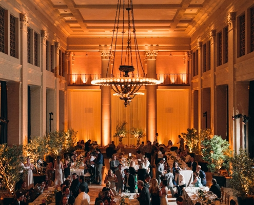 Classy garden wedding reception at the Bently Reserve for a destination wedding in San Francisco by destination wedding planner Mango Muse Events