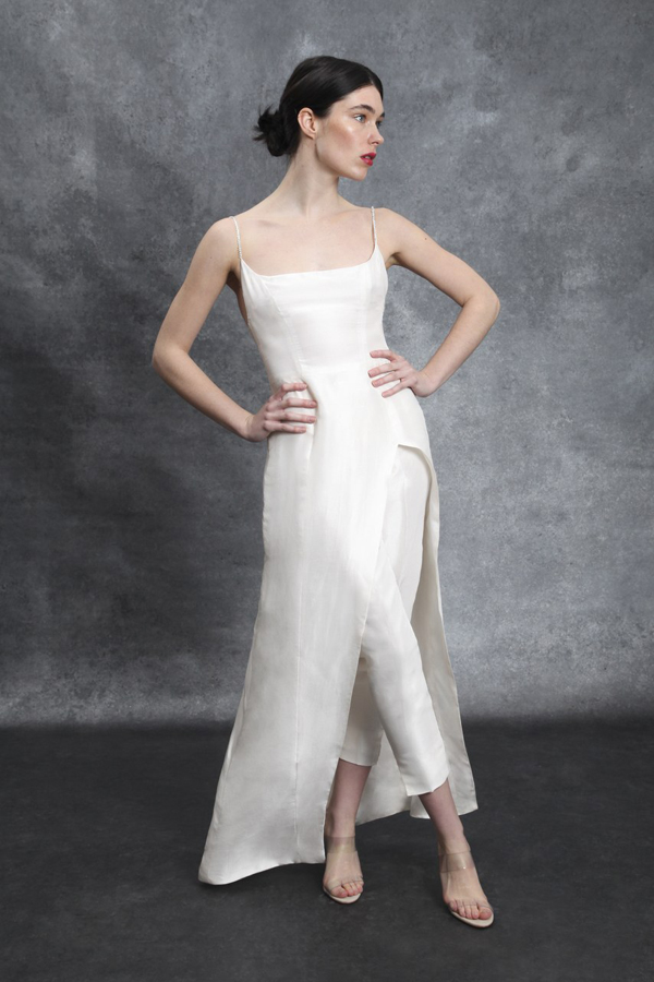 Alternative hybrid pants wedding dress by Sahroo Bridal Spring 2020