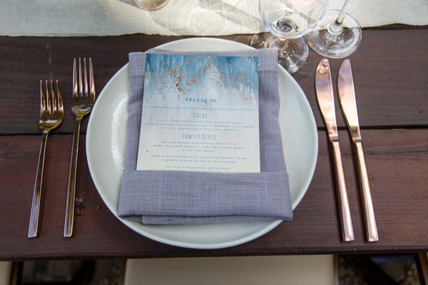 Mid-summer nights dream inspired wedding menu for a russian river wedding by destination wedding planner Mango Muse Events