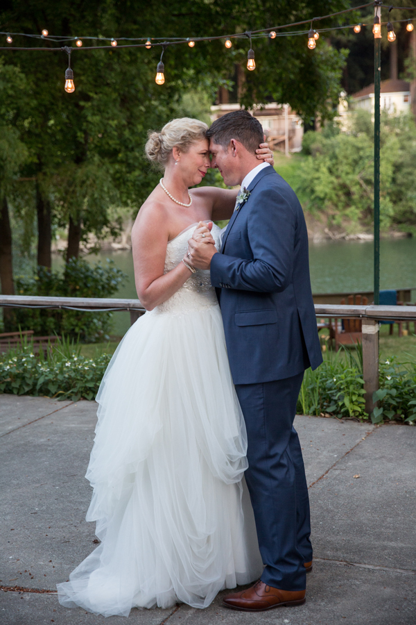 Romantic first dance at a russian river wedding at the Rio Villa Beach Resort by destination wedding planner Mango Muse Events
