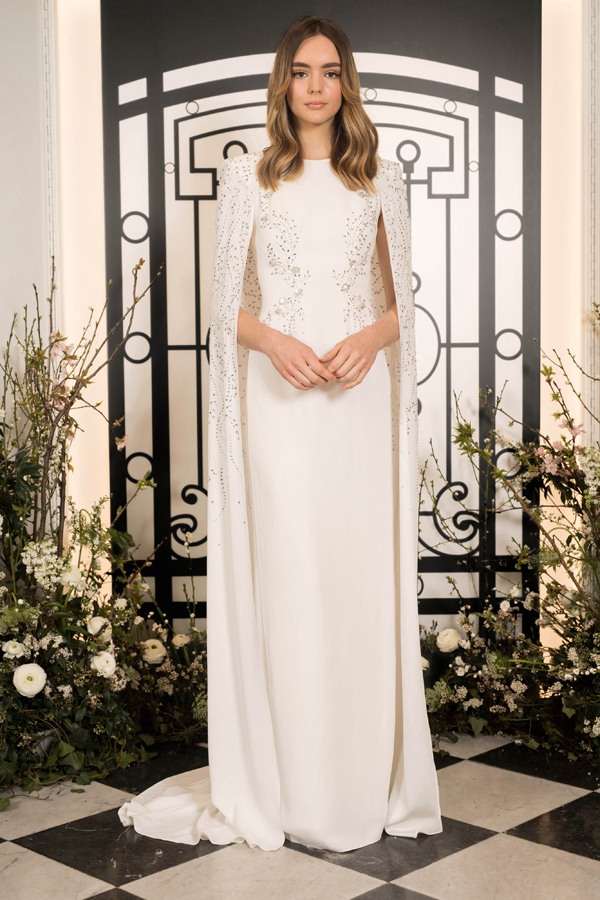 Royal beaded cape wedding dress by Jenny Packham Bridal Spring 2020