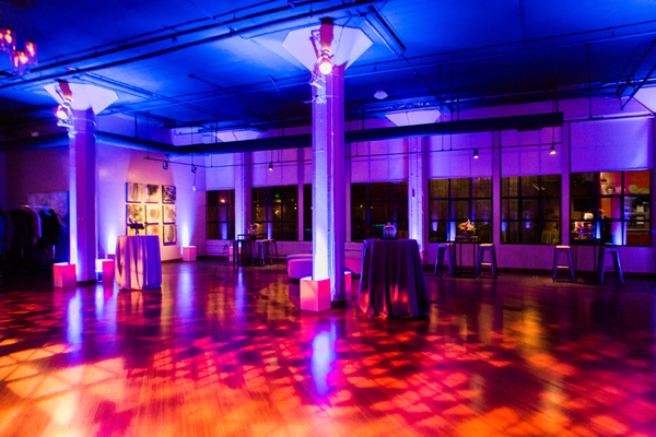 Fun dance floor geometric pattern at Terra gallery for a San Francisco wedding by destination wedding planner Mango Muse Events