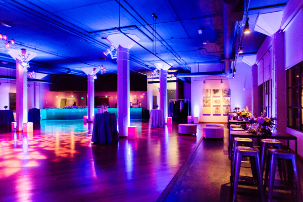 Luxe dance lounge at Terra gallery for San Francisco wedding by destination wedding planner Mango Muse Events