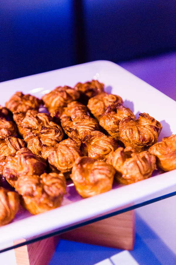 Mini kouign amann at a dessert bar for a San Francisco wedding by destination wedding planner Mango Muse Events