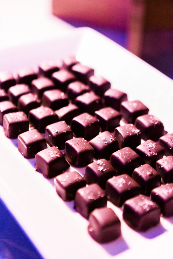 Sea salt caramel chocolates at a dessert bar for a San Francisco wedding by destination wedding planner Mango Muse Events