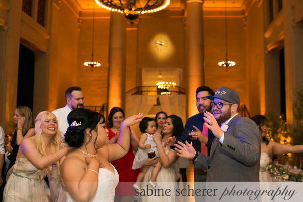 Dancing at a Bently Reserve wedding in San Francisco by destination wedding planner Mango Muse Events