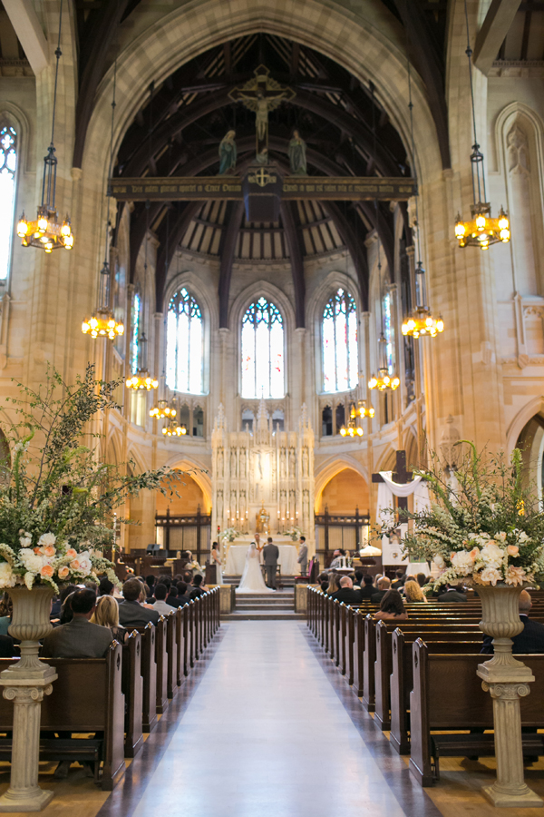 Garden wedding at St. Dominic's Catholic church in San Francisco by destination wedding planner Mango Muse Events